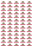 California Flag Stickers - 65 per sheet